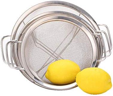 awhao Edelstahlsieb, feinmaschig, 3er-Set mit abgestuften Größen, ideal zum Sieben von Pasta, Nudeln, Quinoa, Tee, Siebmehl und Puderzucker, Reis, Gemüse, Obst usw. Noble