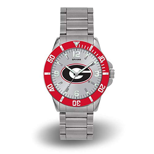 Rico Georgia Bulldogs NCAA Key Watch with Stainless Steel Band