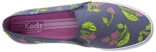 Raspberry Double Slip Sneaker Keds Picnic Women's Decker On 6fHP4qFw
