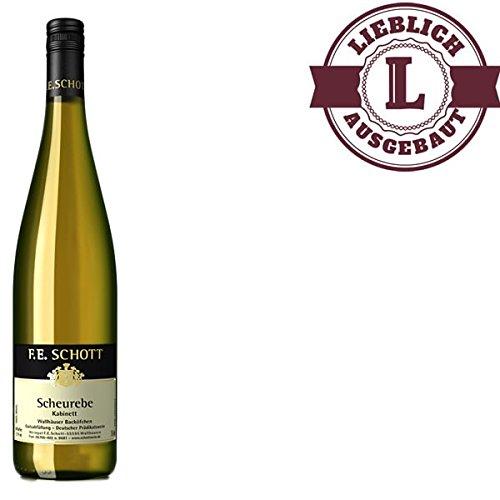 Weißwein Weingut F. E. Schott Scheurebe Kabinett Nahe 2015 lieblich (1 x 0.75 l) - VERSANDKOSTENFREI -