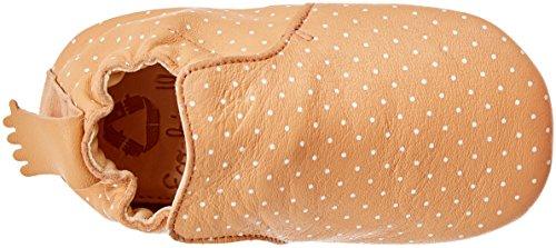 Easy Peasy Baby Mädchen Blublu Plumetis Hausschuhe Orange (orange Pêche/blanc)