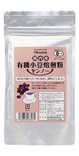 OS domestic organic adzuki bean roasting flour (Yan'no) ? 100g (red bean tea)