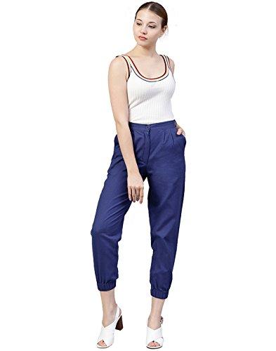 Slub Women Trousers Royal Kurti Cotton Blue Plain Jaipur g6WOZYwxqn