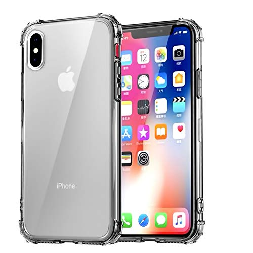 CaseHQ Crystal Clear Gray Case Compatible with iPhone Xs Max, [Shock Absorption] Case Soft TPU Bumper Slim Protective Cover Scratch-Resistant with 4 Corners Protection Shock Absorption Cover