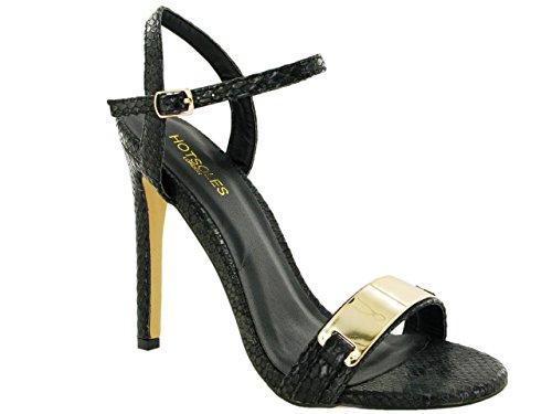 HOTSOLES LONDON - Zapatos de tacón  mujer beige (Natural Snake)