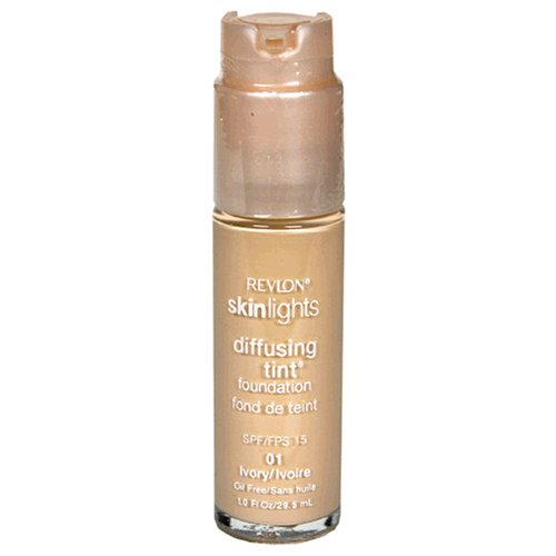Revlon SkinLights Diffusing Tint Foundation, SPF 15, Ivory 01, 1 Fluid Ounce (29.5 ml)