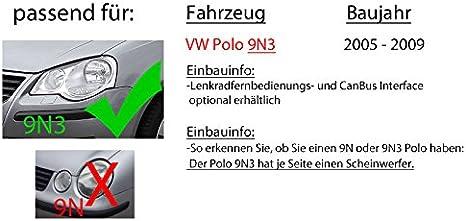 Autoradio Radio Mit Dpx M3200bt 2 Din Bluetooth Usb Einbauzubehör Einbauset Für Vw Polo 9n3 Kompatibel Mit Iphone Android Smartphones Navigation