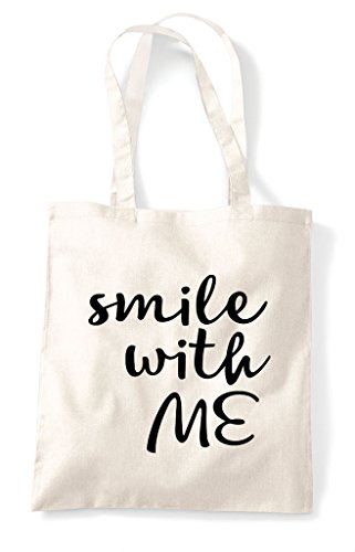 Me Shopper With Positive Smile Natural Bag Statement Tote Fxq5xgYZRn