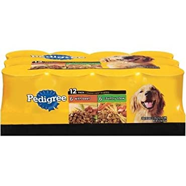 Pedigree Choice Cuts in Gravy Variety Pack, 13.2oz Cans, 12 Count Dog Food, includes 6 Beef and 6 Country Stew