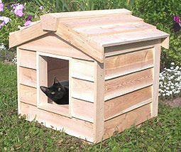 13. CozyCatFurniture Waterproof Insulated Cat House for Outdoor Use
