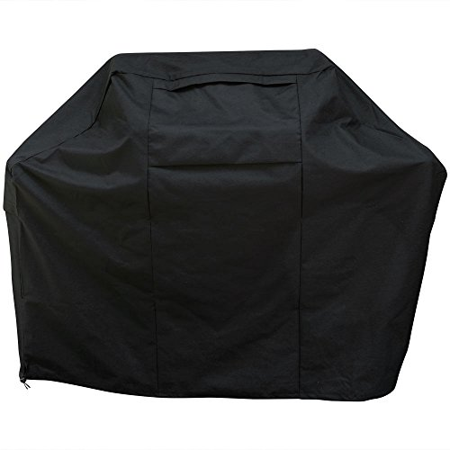 Sunnydaze Gas Grill Cover for Outdoor BBQ, Heavy Duty Waterproof and UV Resistant, 58 Inch, Black