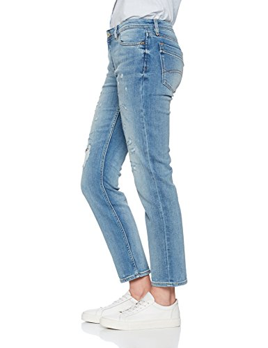 Destructed Hilfiger Jeans Lidst Suky Ankle Stretch Light Bleu Denim Straight Femme Indigo 4R4wZqfr