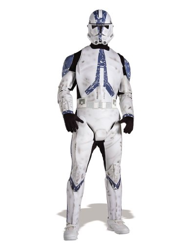 [Deluxe Clone Trooper Costume - X-Large - Chest Size 50] (Girls Deluxe Catwoman Costume)