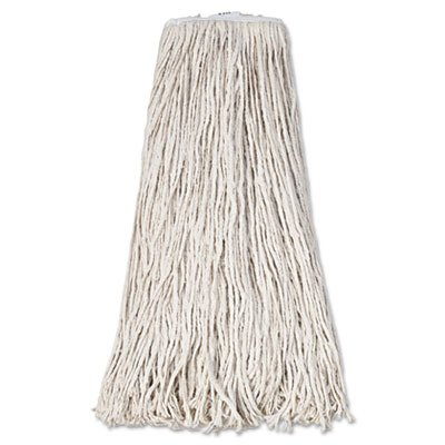 Boardwalk BWK232C Mop Head, Premium Standard Head, Cotton Fiber, 32oz, White (Case of 12)