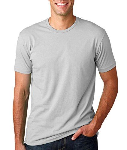 Next Level Premium Fit Extreme Soft Rib Knit Jersey T-Shirt, Light Gray, ()