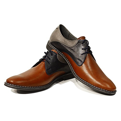 in da Allacciare Uomo Vacchetta Valerio Handmade Pelle Morbido Modello PeppeShoes Marrone Pelle Scarpe Italiano da Sera wZqAYpBI