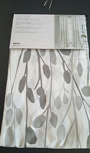 Tan Floral Panel - DKNY Carroll Gardens Floral Road Pocket Curtains 100% Cotton 50 by 96-inch Set of 2 Floral Window Panels Gray Beige Tan Taupe White Flowers Branches