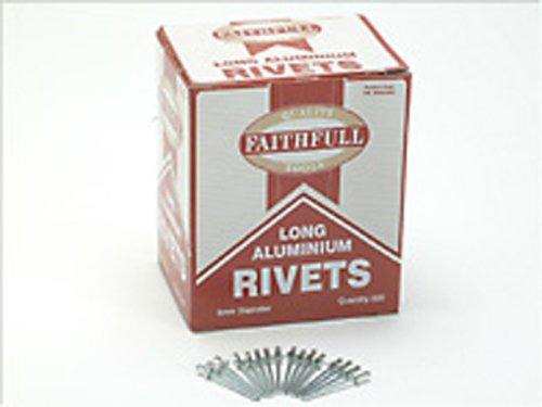 Faithfull Aluminium Rivets 5mm Long (Pack of 500)