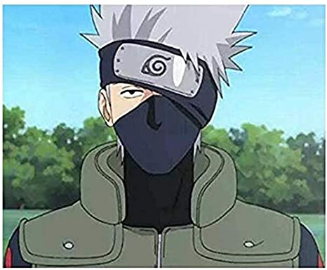 Naruto D/éguisement Feuille Village Ninja Bandeau Kakashi Cosplay Noir et Rouge Zhenzhiao Naruto Cosplay Bandeau Model-2