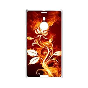 ZK-SXH - Fire Flower Brand New Durable Cover Case Cover for Nokia Lumia 1520, Fire Flower Cheap Case
