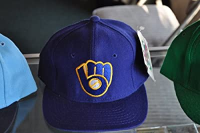 Major League Baseball Diamond Collection Milwaukee Brewers Fitted Hat Size 6 5/8