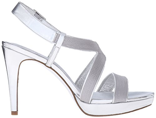 Adrianna Papell Womens Anette Platform Dress Sandal Silver O4Z5IF0P
