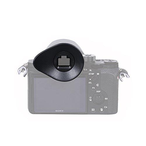 JJC Oval Shape Eyecup Eyepiece Eyeshade Viewfinder for Sony Alpha A7 A7 II/A7 III/A7R/A7R II/A7R III/A7S/A7S II/A58/A99II, Replaces Sony FDA-EP16 Eyecup.