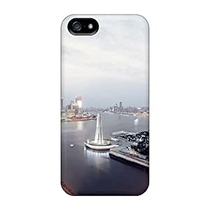 Fashionable AEG43493kCll Iphone 5/5s Cases Covers For Shanghai Skyline Protective Cases