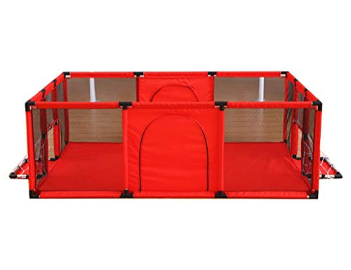 - Baby Playpens Red Extra Large with Soft Spong Pad and 200 Ocean Balls, Baby Kids Play Pens 4 Panel Kids Activity Center Room for Infant, Indoor Outdoor New Pen (Size : 180x120cm)