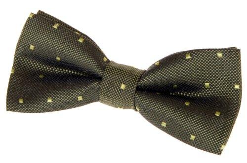 "Retreez Retro Square Dots Woven Pre-tied Bow Tie (4.5"") - Army Green"