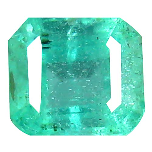 0.72 ct Octagon Cut (5 x 5 mm) Colombian Emerald Natural Loose Gemstone