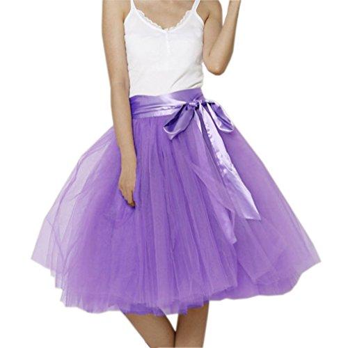 EllieHouse Womens Short Tutu Tulle Skirt with Sash Lilac Size XL PC06