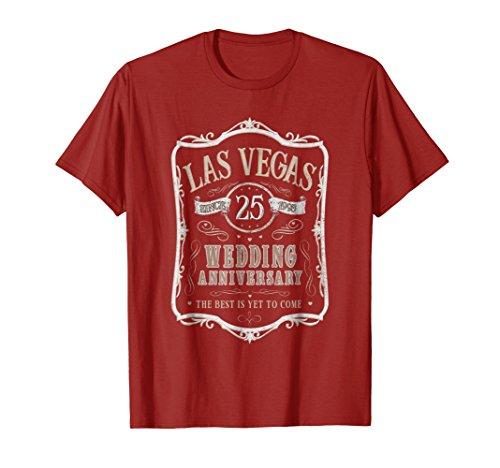 Las Vegas 25th Wedding Anniversary Gift T-Shirt - Men Women
