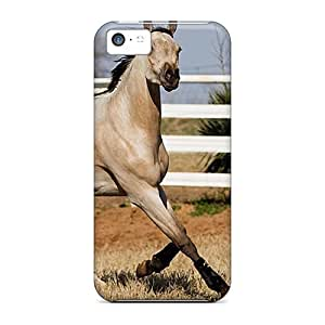 Awesome Cases Covers/iphone 5c Defender Cases Covers(gray Horse In A Pasture)