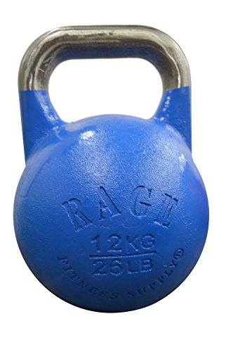 RAGE Fitness Competition Kettlebell, Blue, 12kg/26.40-Pound (Kettle Bell 12kg compare prices)