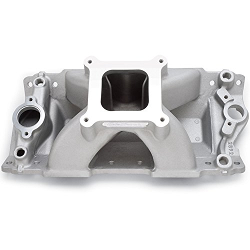 Edelbrock 2892 Super Victor II Series Intake Manifold Series 2 Non-EGR 4000-8000rpm Chevy Small Block 262-400 cid Raised Port 23deg. Head For 4 bbl Carbs Racing Use Only Super Victor II Series Intake Manifold -  E11-2892