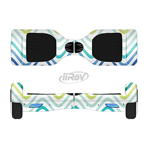 The Vibrant Fun Colored Pattern Swirls Full-Body Wrap Skin Kit for the iiRov HoverBoards and other Scooter (HOVERBOARD NOT INCLUDED)