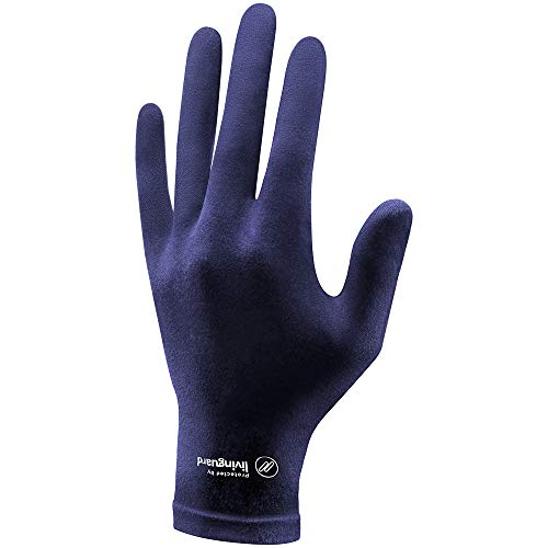 Livinguard STREET GLOVE with Patented Livinguard Technology | Touchscreen Compatible | Sustainable, Washable, Reusable 1 Pair (Large, Men, Bombay Blue)