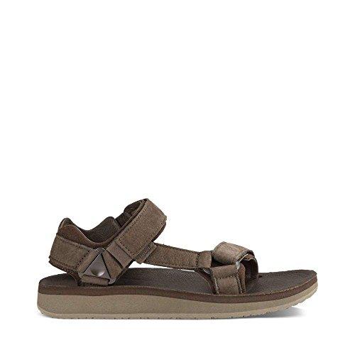 Chocolate Leather Footwear - Teva Men's M Original Universal Premier-Leather Sandal, Chocolate Brown, 11 M US