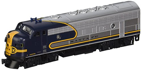 Emd F7a Unit - Kato USA Model Train Products #332 N Scale EMD F7A Freight AT & SF Train, Blue