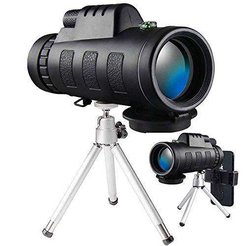 Review Monocular Telescope, 40x60 High Powered Monocular with Smartphone Adapter & Tripod for Bird W...