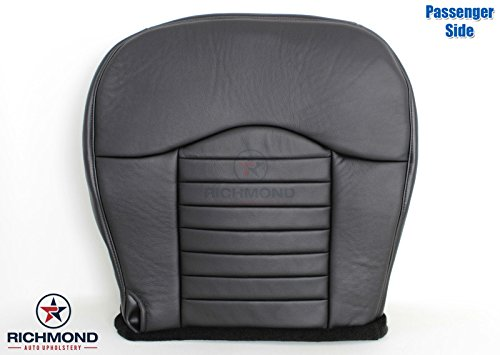 Richmond Auto Upholstery 2000 Ford F-150 F150 Harley Davidson Edition Supercharged Passenger Side Bottom Replacement Leather Seat Cover, Black