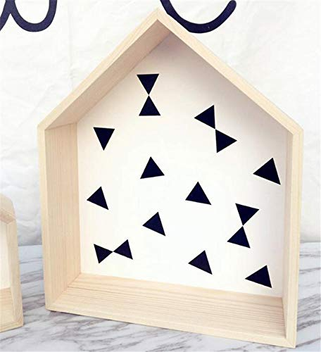 Wooden House Shelf Children 'S Room Decorated Wood Doll Houses Kids Baby Girls Room House Shelf Wooden Wall 30cmX35cm House ()