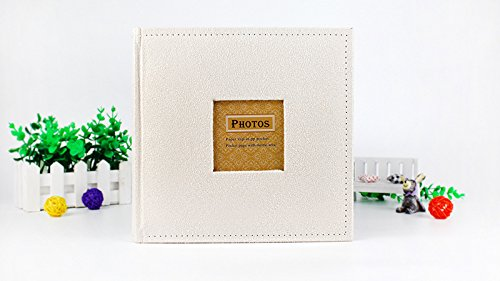Great Circle Photo Albums Velvet cover 4R/6 inch paper core insert album (white) by Great Circle (Image #1)