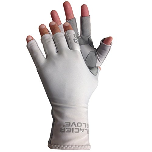 Glacier Glove Islamorada Gray Sungloves, Grey, Large ()