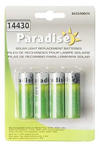 Paradise BA25400LT4 3.2 Volt Solar Battery Life For Outdoor Lights]()
