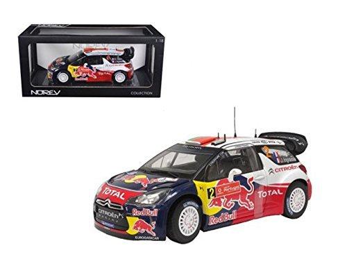 Norevノレブ 1/18 RedBull Citroen DS3 WRC 2011 Winner Rally of Mexico/レッドブル/シトロエン/ラリー・オブ・メキシコの商品画像