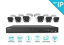 LaView LVKNW986BT6-T2 1080P WiFi 8-Channel 6-Camera (6x 2MP Bullet) Security Camera System with Pre-Installed 2TB Hard Drive
