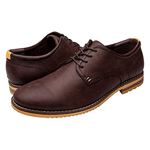 GlobalWin - 2 Mens Casual Oxford Shoes 10M, Dark Brown - 2 Leather Casual Shoe