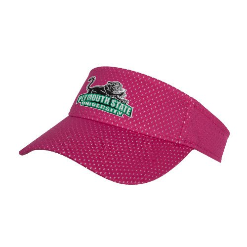 Plymouth State Pink Athletic Mesh Visor